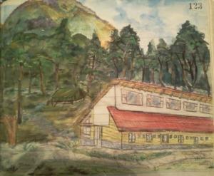 Pabellón de Turismo. autor: Integrante del 2do campamento de Vacaciones Felices, 1965.